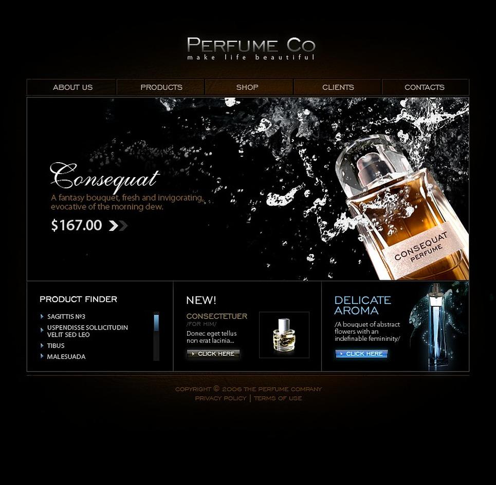 Cosmetics Store Flash Template 11805
