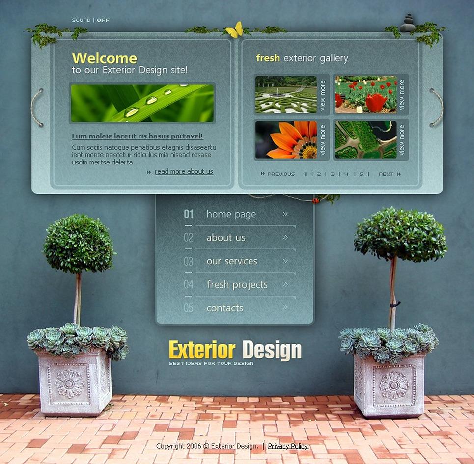 Exterior design flash template 11828 for Exterior design templates