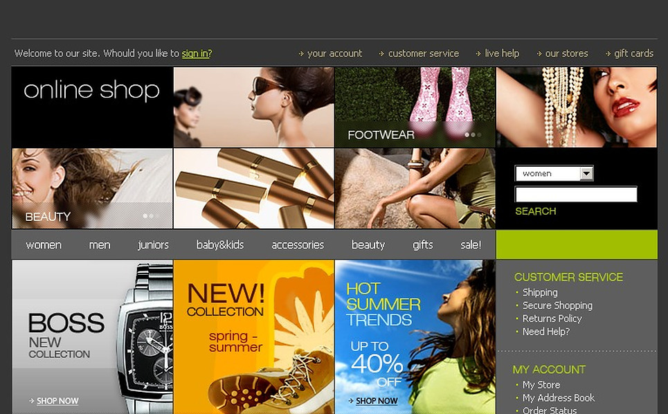 Apparel Website Template New Screenshots BIG