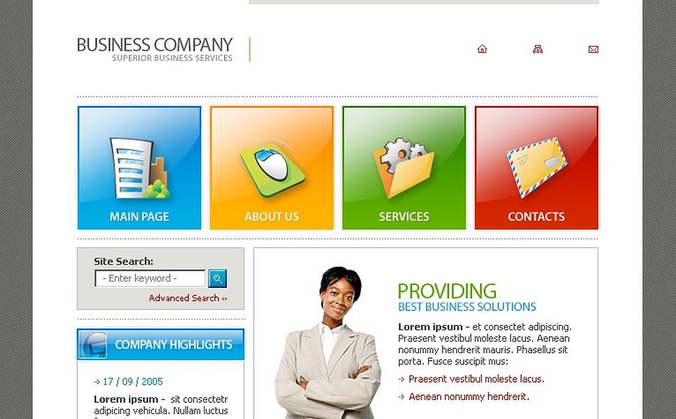 Business Flash Template New Screenshots BIG