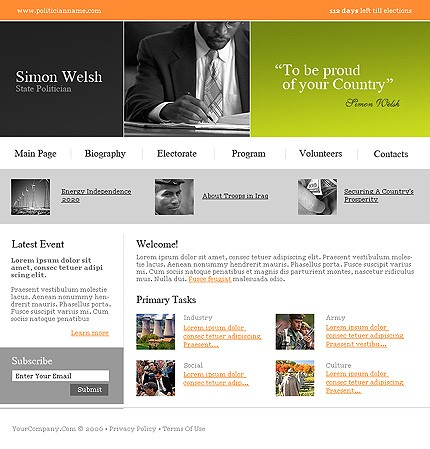 Website Template #12011