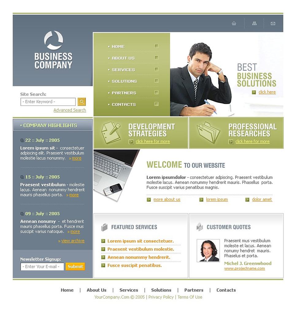 Business SWiSH Template New Screenshots BIG