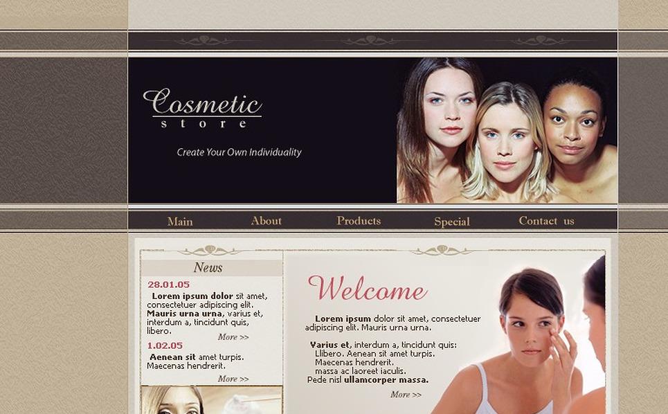 Cosmetics Store SWiSH Template New Screenshots BIG