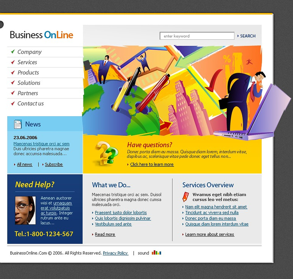 Business Flash Template New Screenshots BIG
