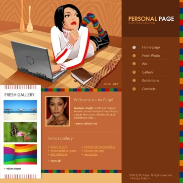 Personal profile free website templates for free download about (3 ...
