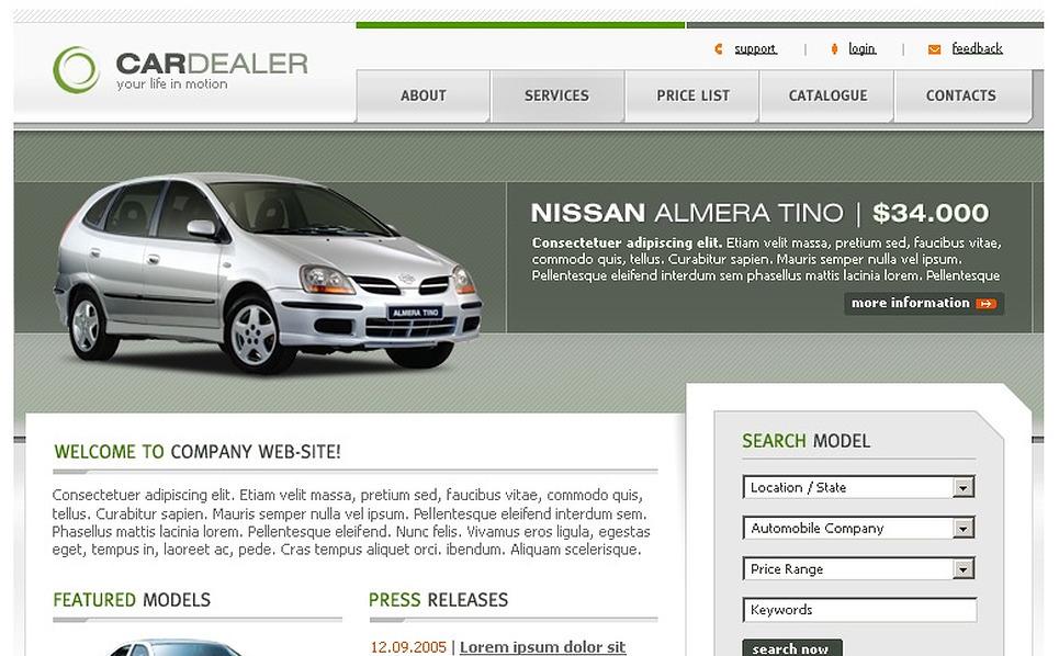 Car Dealer PhpBB Template New Screenshots BIG