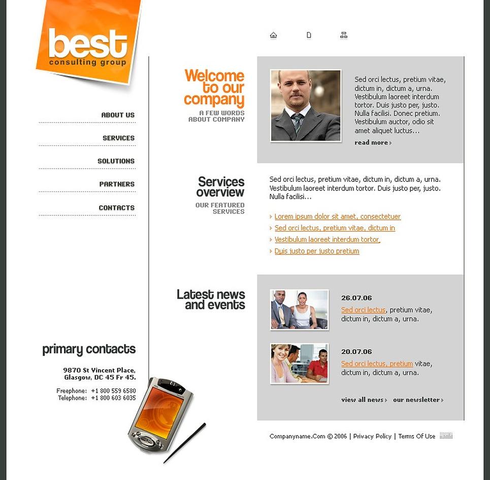 Consulting Flash Template New Screenshots BIG