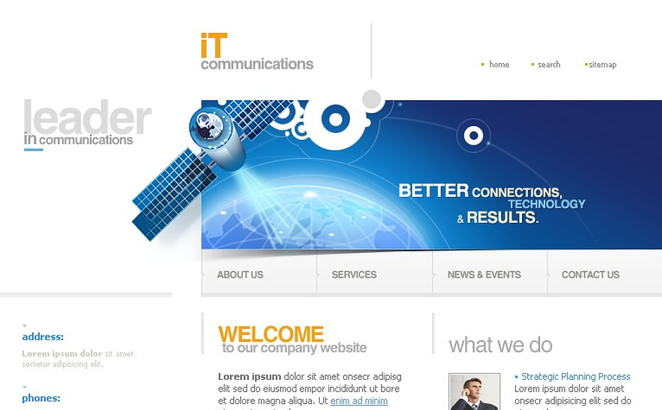 Communications SWiSH Template New Screenshots BIG
