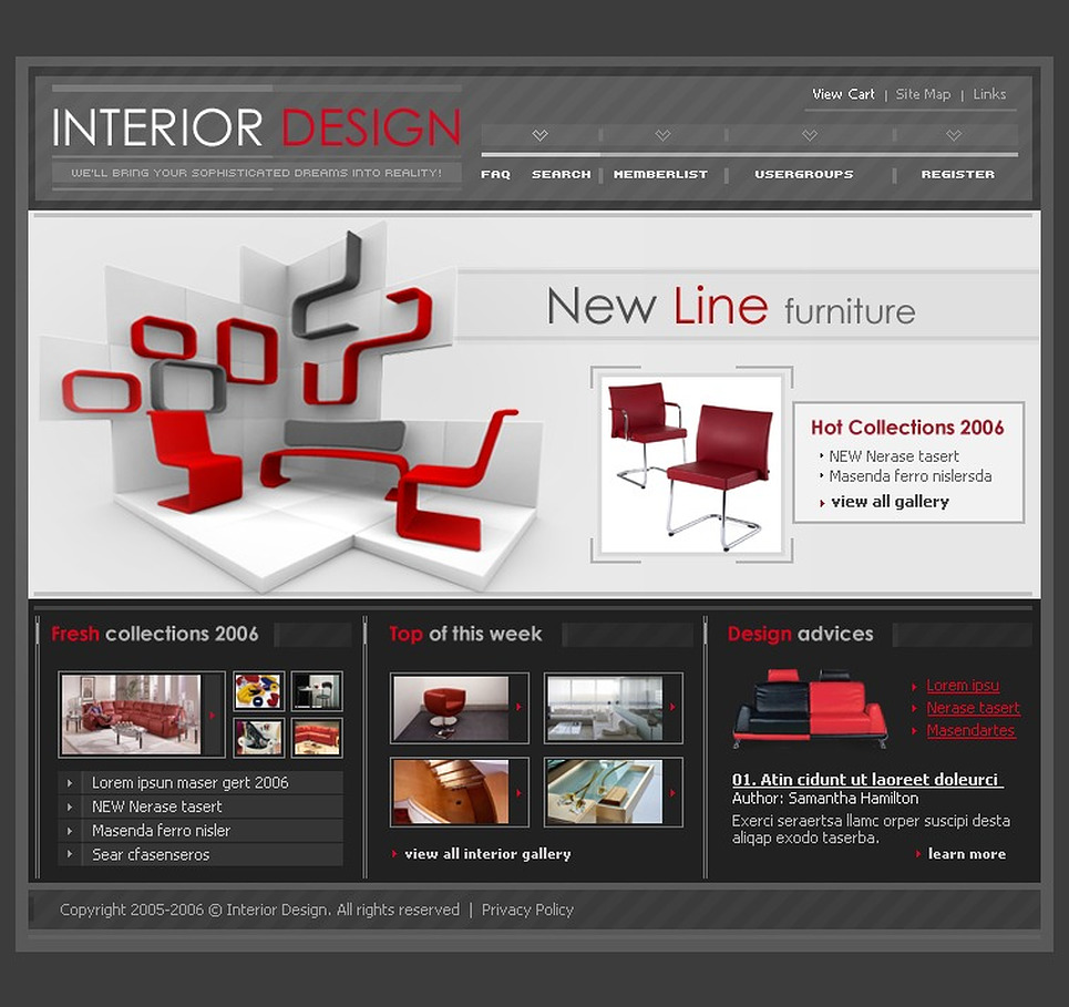 Interior Design PhpBB Template New Screenshots BIG