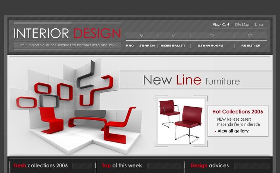 Interior Design PhpBB Template New Screenshots BIG