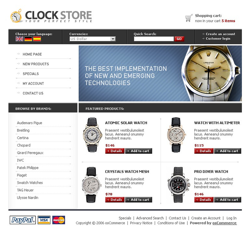 Perfect Style for your Clock Store