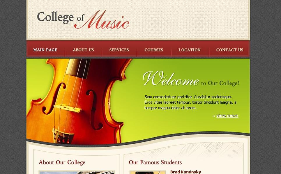 Music School Website Template New Screenshots BIG