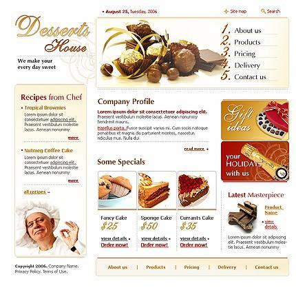 Дизайн сайта.Еда, напитки, Шаблон : 12364.