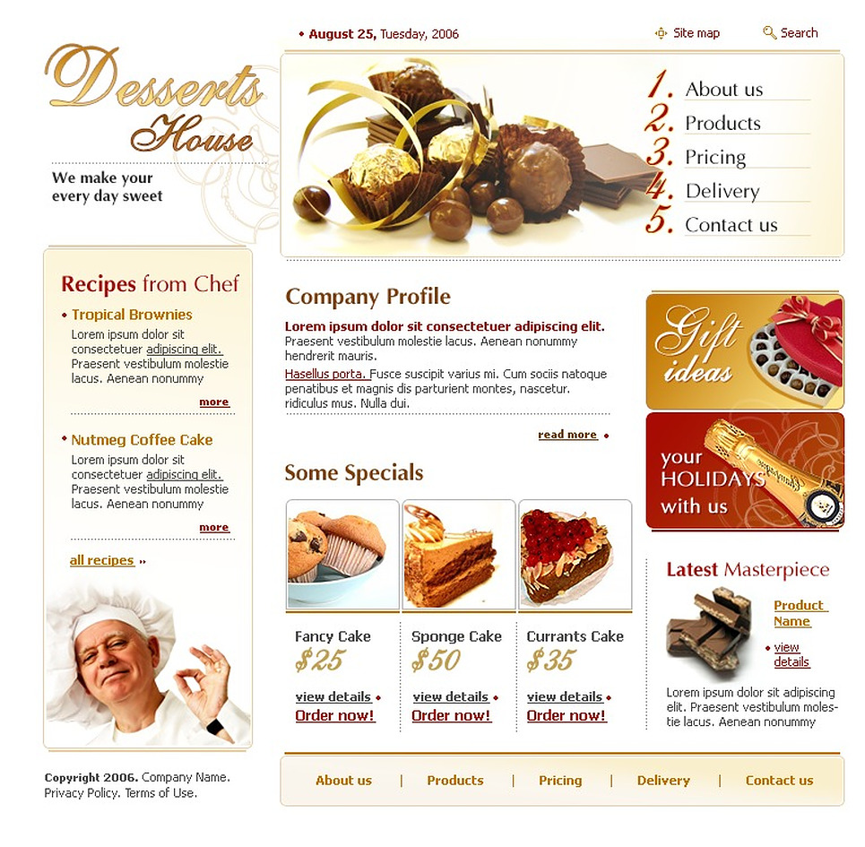 Sweet Shop Website Template New Screenshots BIG