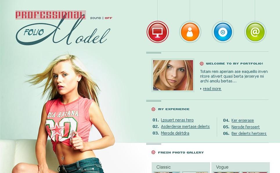Model Portfolio Flash Template New Screenshots BIG