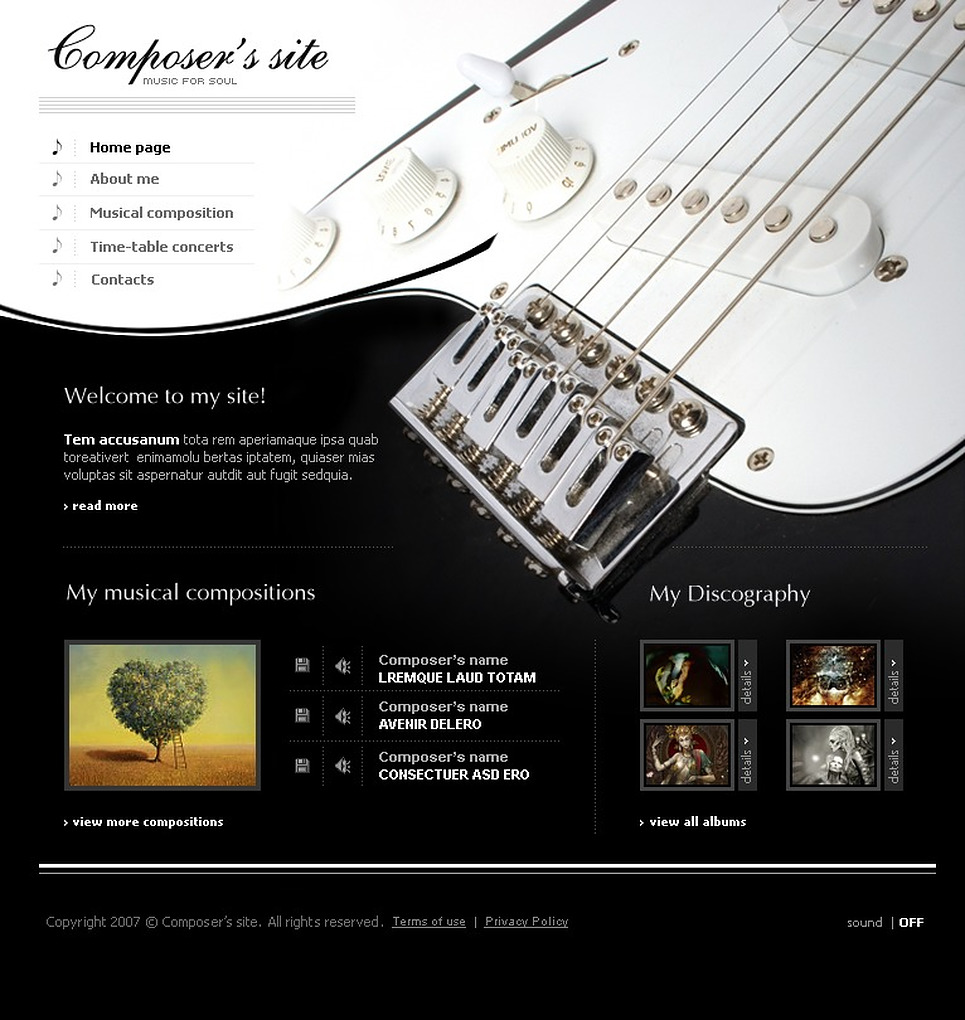 Music Flash Template New Screenshots BIG