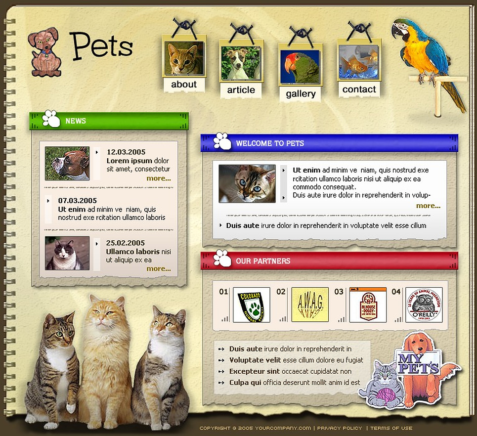 Animals & Pets SWiSH Template New Screenshots BIG