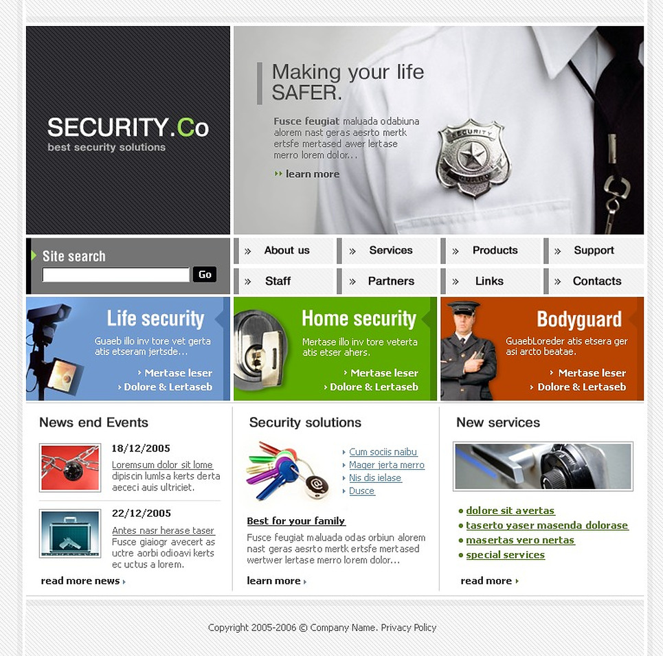 Security SWiSH Template New Screenshots BIG