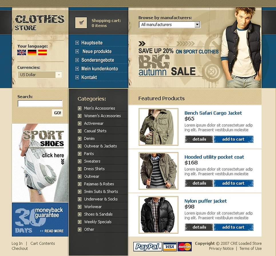 Apparel CRE Loaded Template New Screenshots BIG