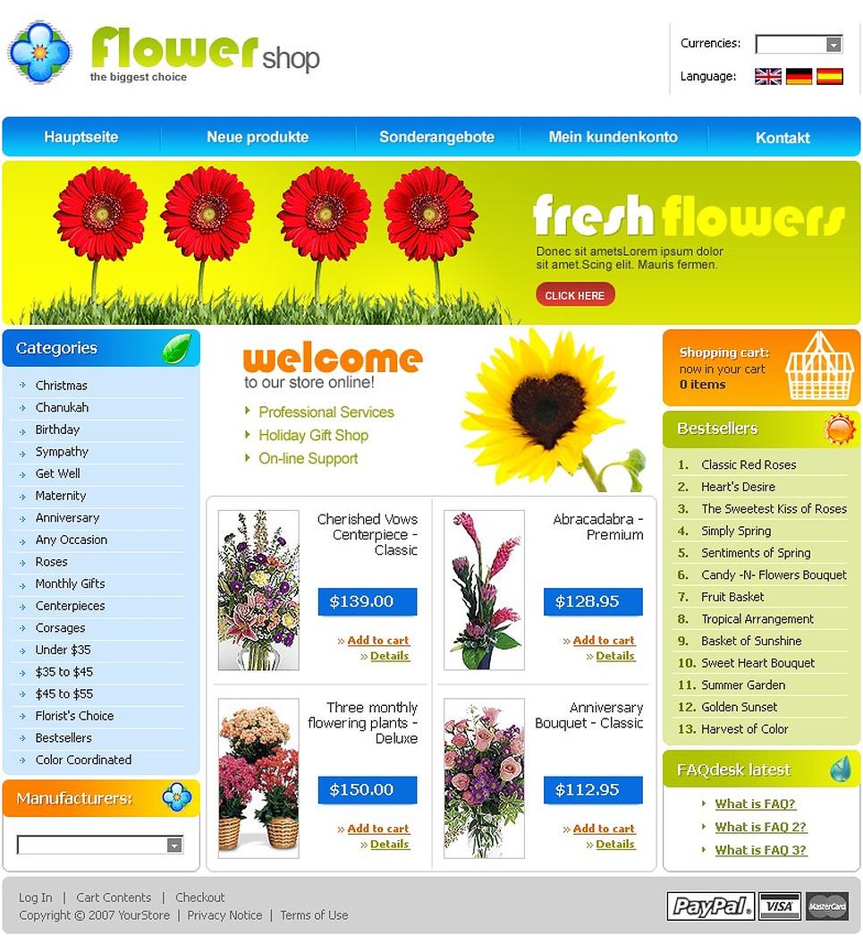 Flower Shop CRE Loaded Template New Screenshots BIG