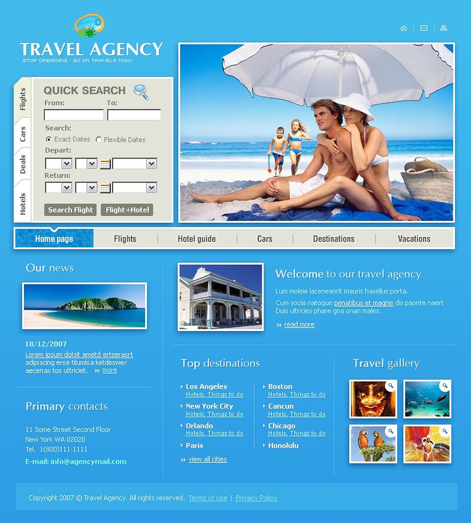 Travel Agency Website Template 13098