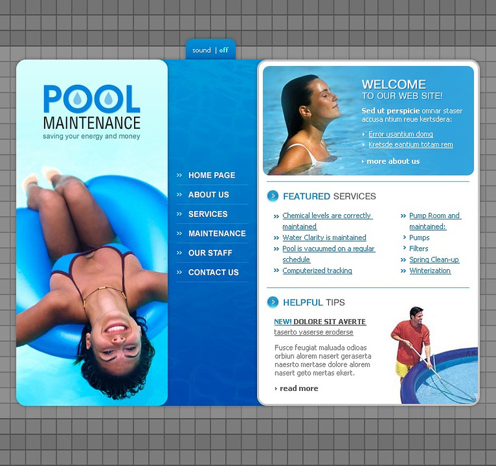 Pool Cleaning Flash Template New Screenshots BIG