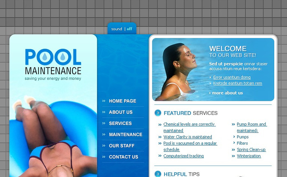 Pool Cleaning Flash Template New Screenshots BIG