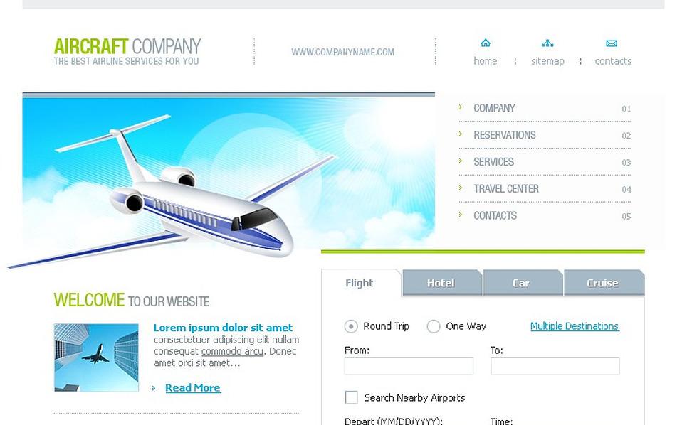 Airline Tickets Website Template New Screenshots BIG