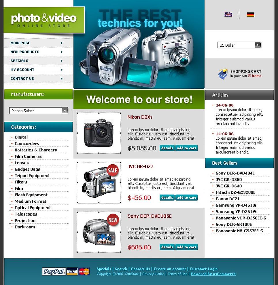 Video Store CRE Loaded Template New Screenshots BIG