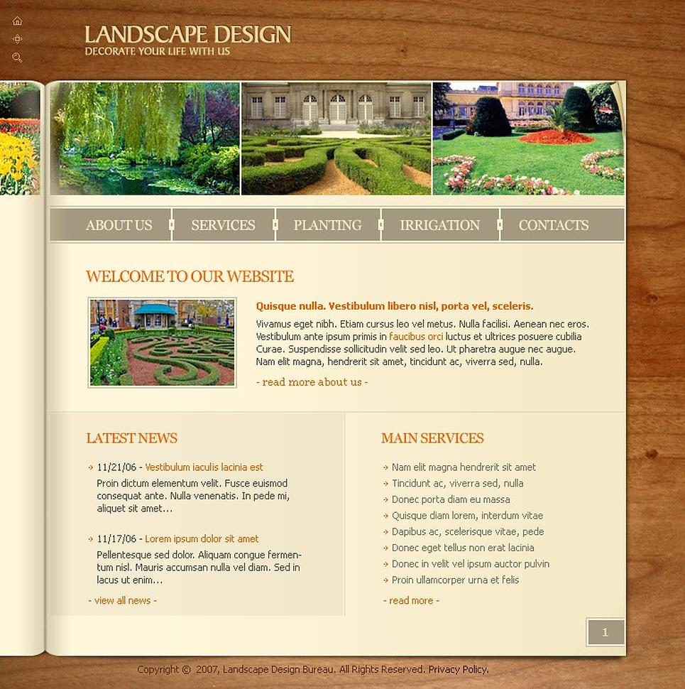 Landscape design flash template 13423 for Garden design questions