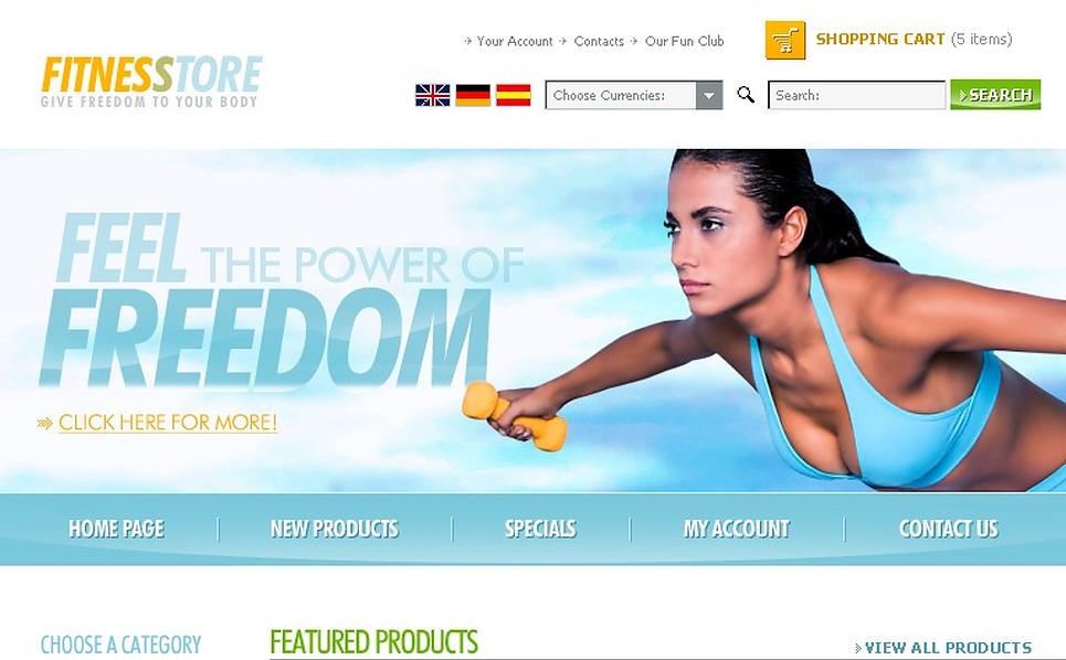 Sports Store Website Template New Screenshots BIG