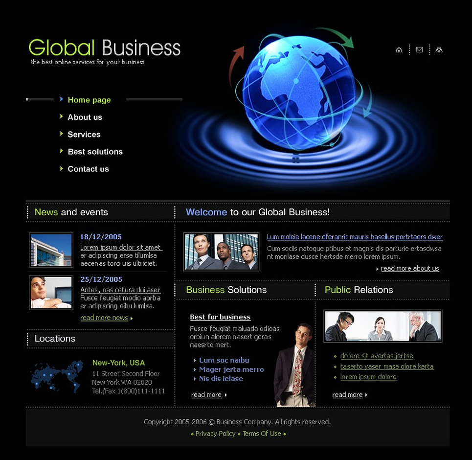 Business SWiSH Template New Screenshots BIG