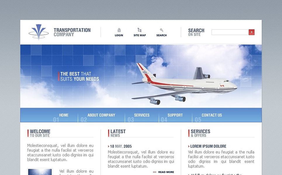 Transportation SWiSH Template New Screenshots BIG