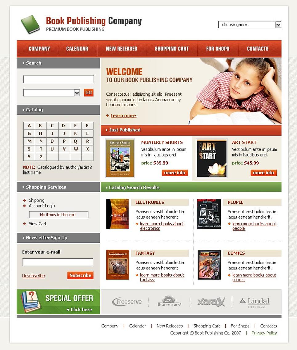 Publishing Company SWiSH Template New Screenshots BIG