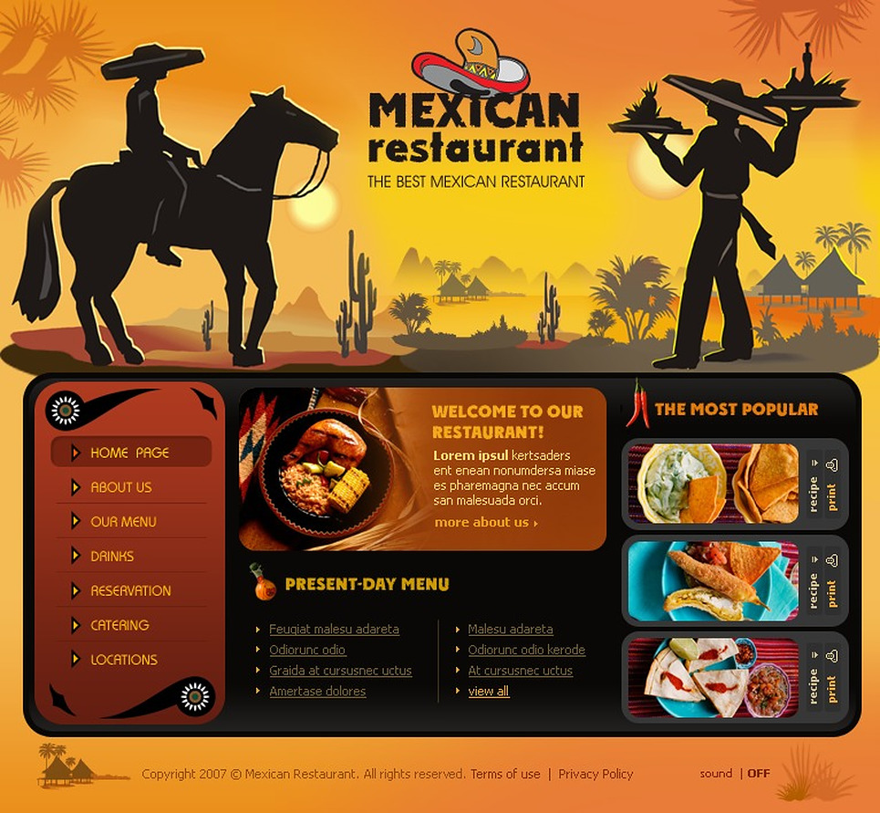 Mexican Restaurant Flash Template New Screenshots BIG