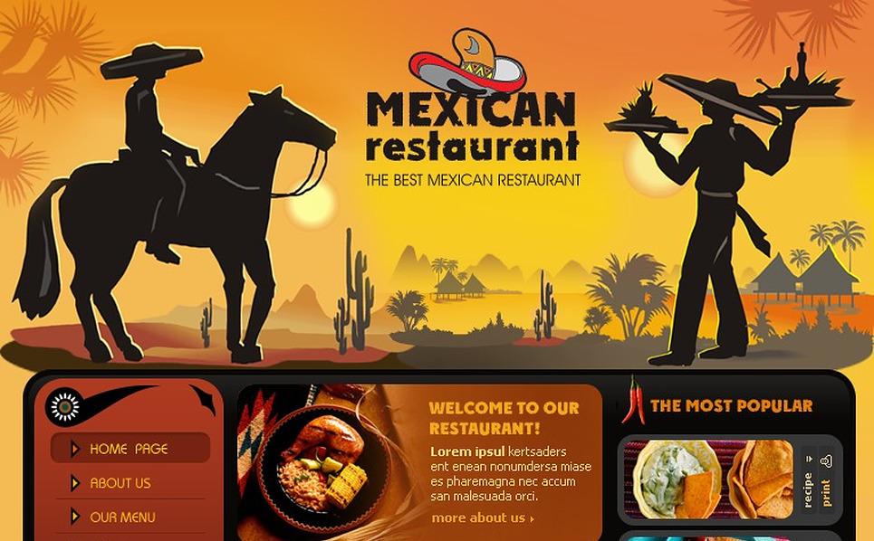 Mexican Restaurant Flash Template New Screenshots BIG