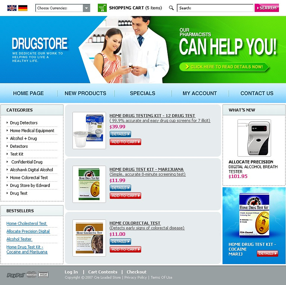 Drug Store CRE Loaded Template New Screenshots BIG