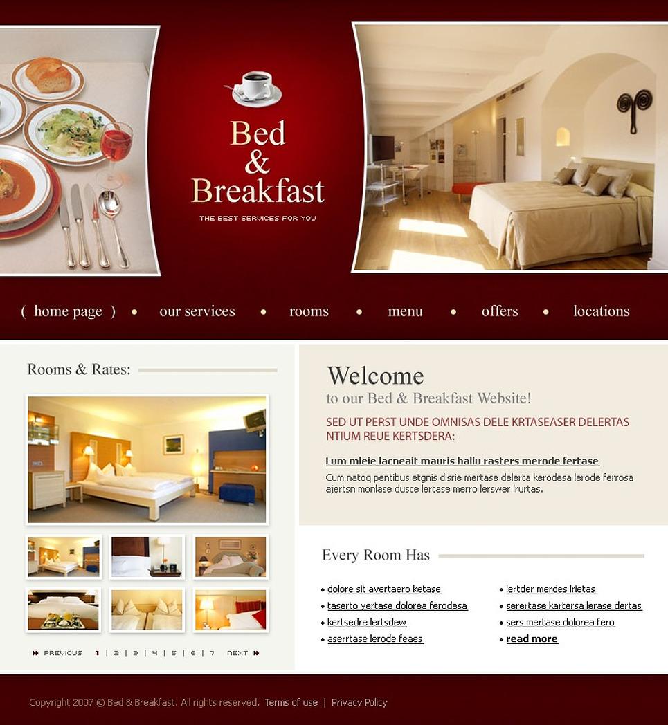 Mod le web 14141 pour site d 39 h tel for Site web pour hotel