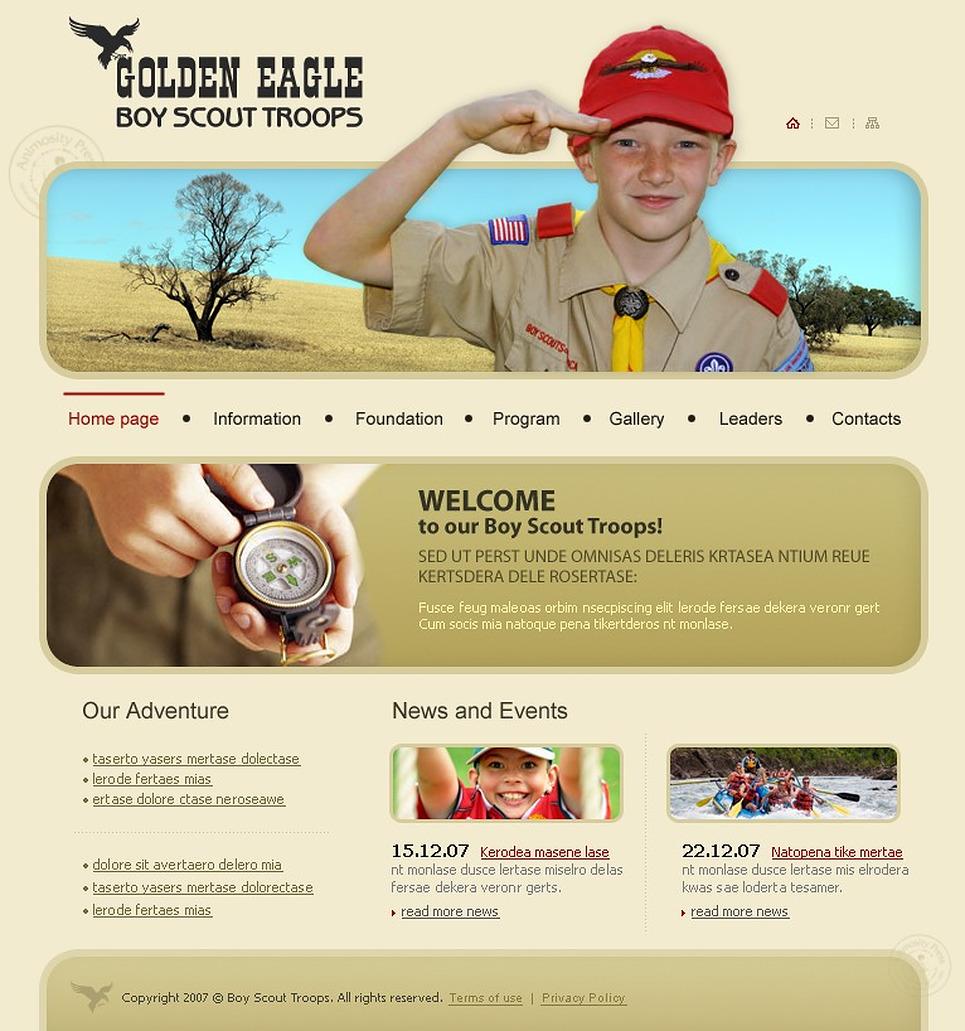 boy scout website template web design templates website templates download boy scout website. Black Bedroom Furniture Sets. Home Design Ideas