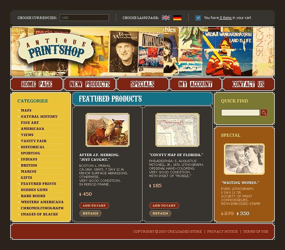 Print Shop CRE Loaded Template New Screenshots BIG