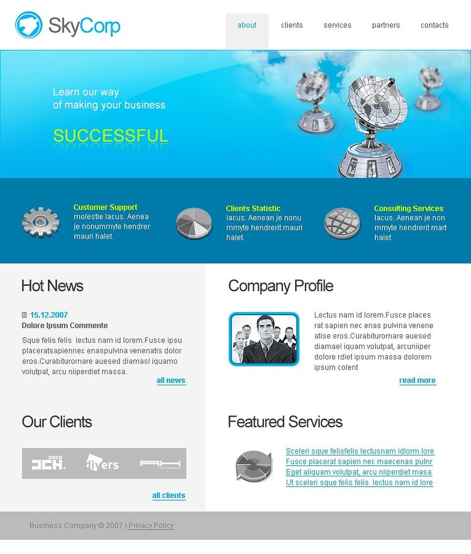 Satellite TV Website Template New Screenshots BIG