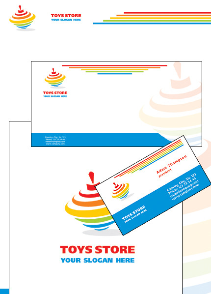 Toy Store Corporate Identity Template Vector Corporate Identity preview