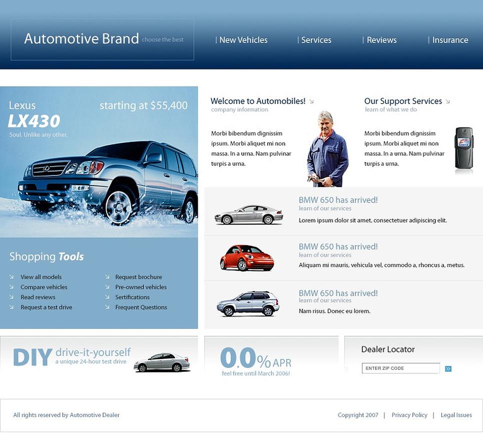 Car Club SWiSH Template New Screenshots BIG