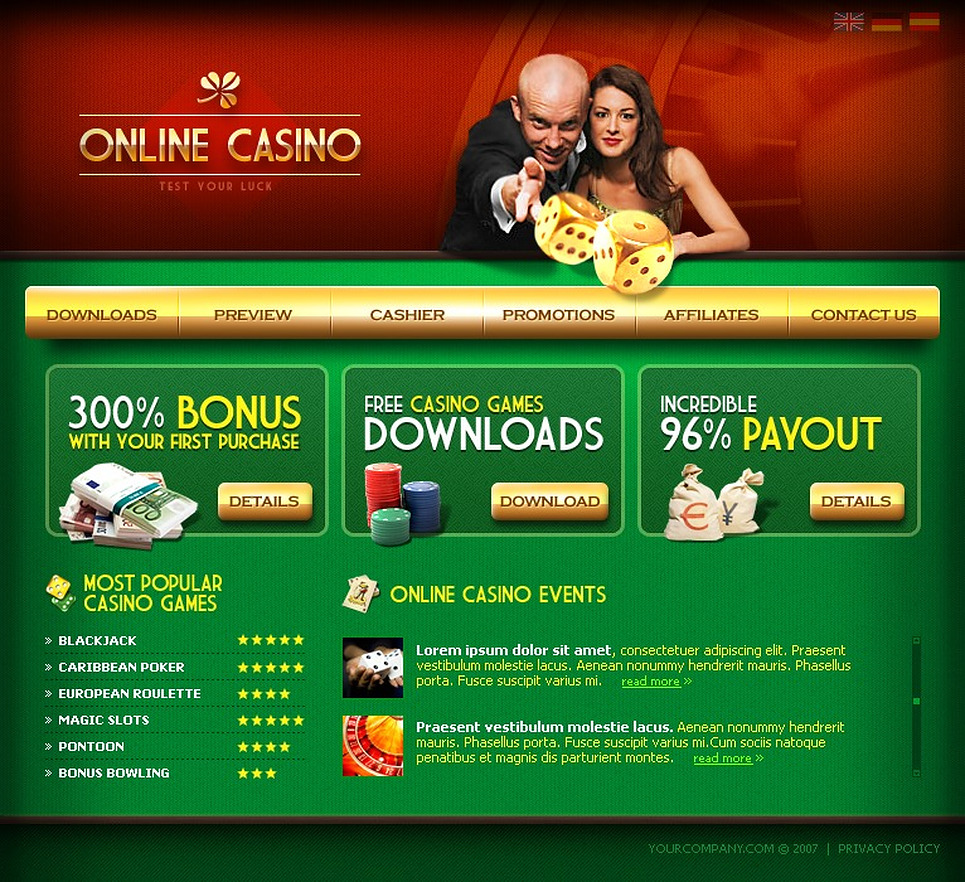 Online Casino Website Template New Screenshots BIG