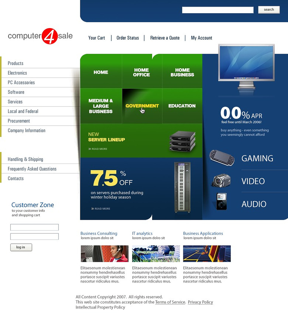 Computer Store Website Template New Screenshots BIG