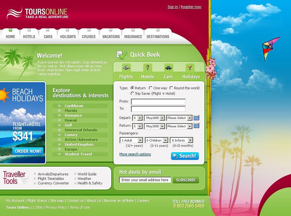 Travel Agency Website Template 14678