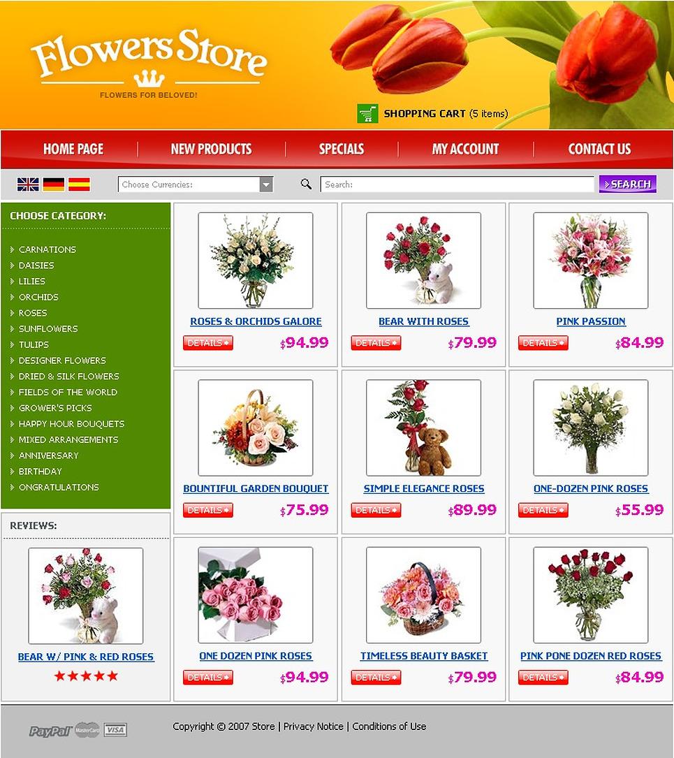 Flower Shop Website Template New Screenshots BIG