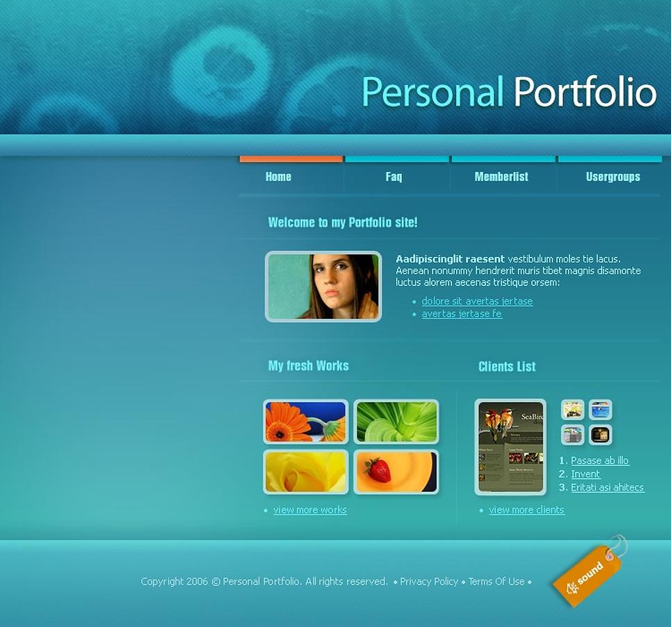 PhpBB шаблон #14710 на тему персональных страниц от TemplateMonster