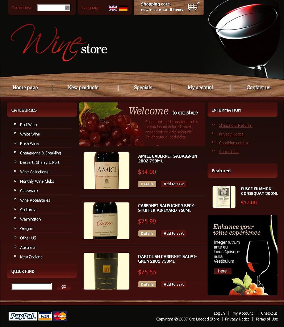 Wine CRE Loaded Template New Screenshots BIG