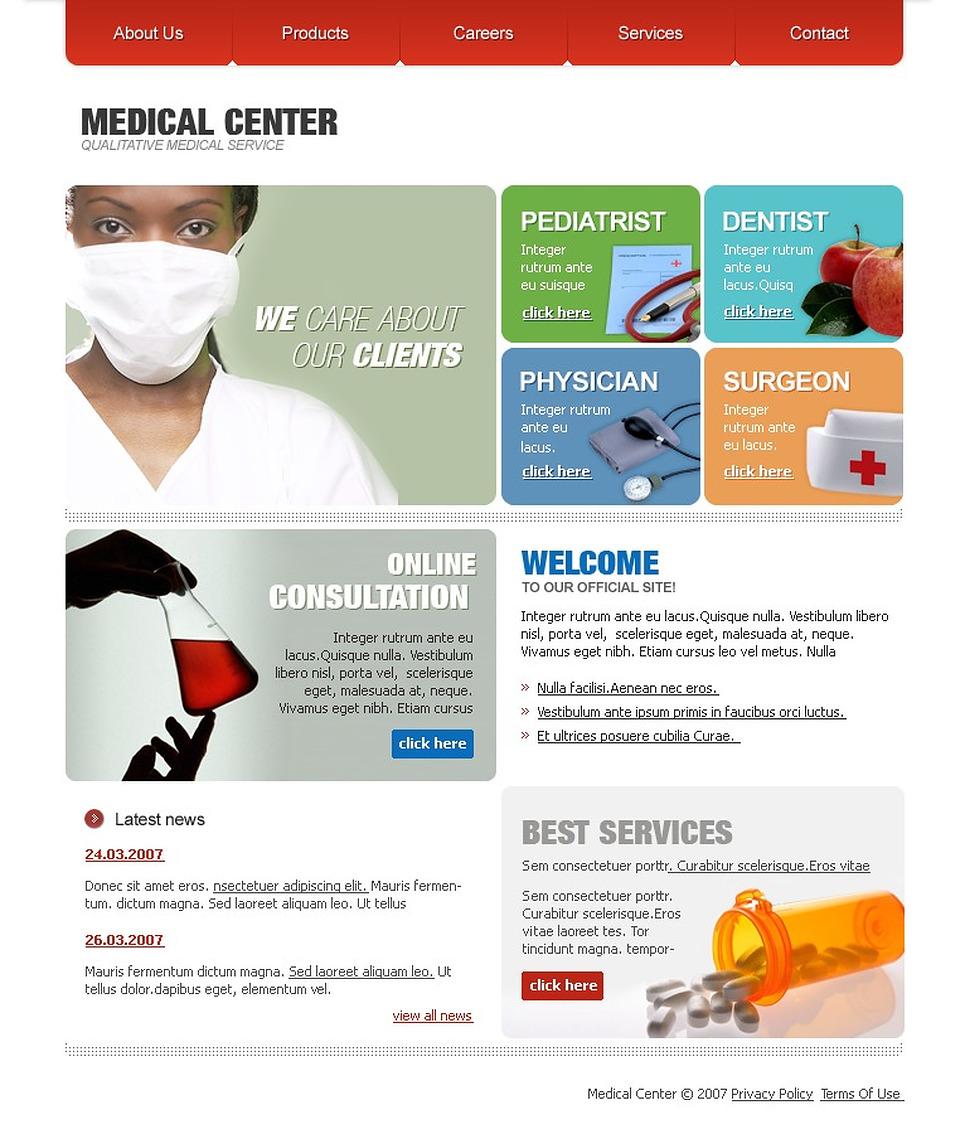 medical website template web design templates website templates download medical website. Black Bedroom Furniture Sets. Home Design Ideas
